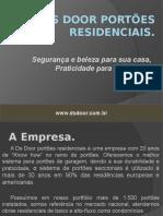 Apresentação DS DOOR Portões Residenciais Atualizado