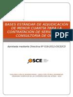 Bases Consultoría de Obra PRE INVERSIÓN