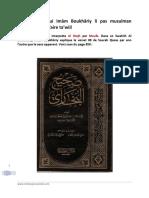 Al Albaniy Dire Qui Imam Boukhâriy Li Pas Musulman Parcequi Li Finn Faire Tawiil
