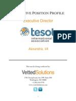 Tesol Executive Director Position Profile