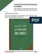 Ta'Wiz Qui Contenir Ayat Qur'Ân Li Permis Contrairement Cequi Prétend Bann Wahhabi