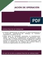 Administración de Operación