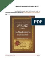 Albani vs Imam Nawawi Concernant Recite Qur'Ân Lors Qabr