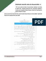 Ibn Taymiyyah Et Wahhabi Interdit Visite de Rasoulullah SAW