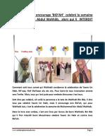 Bin Baz Encourage Innovation Semaine Muhammad Bin Abdul Wahhab Et Empeche Yawm Un Nabi