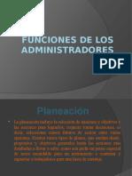 Funciones de Los Administradores