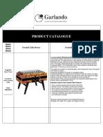 Garlando Catalogue