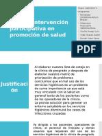 plan de intervencion para el mejoramiento de los servicios en la clinica de posgrado