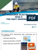 Presentacion de Detonadores Electronicos