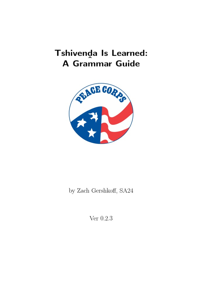 Tshivenda Verb English Language