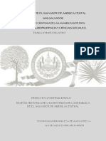 Trabajo de Investigacion Reformas Constitucionales Salvadoreña