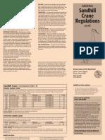 ARIZONA Sandhill Crane Regulations 2016