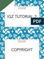 2. Copyright IGZ Tut 2 2014