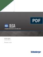 OLGA 2015.1.1 Release Notes