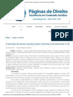 O Princípio Do Acesso à Justiça Após a Emenda Constitucional Nº 45_2004 10p.