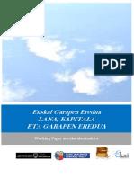 Euskal Garapen Eredua. LANA, KAPITALA ETA GARAPEN EREDUA