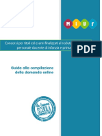 Manuale Domanda Concorso Infanzia Primaria Online260216