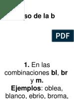 Usos de la B y V