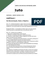 Estatuto Do Grêmio Estudantil Da Escola Estadual Dom Silvério