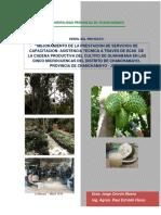 Perfil Guanabana en 5 microcuencas del rio chanchamayo