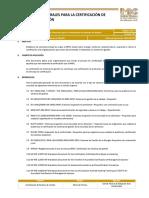 Condiciones Generales Para La Certificación de Sistemas de Gestión