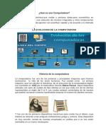 Historia de La Computadora y Sus Partes