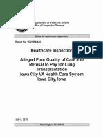 OIG - Iowa Lung Transplant Report