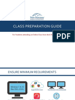 Class Preparation Guide Attending From Home Office V7