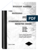 NATIONAL NC-100 Communication Receiver Series - Instructions (1940) WW