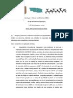 2ª Lista de Exercícios em Ciência de Materiais_UFPE