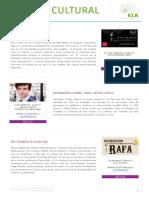 Boletín cultural KLR - agosto 2016