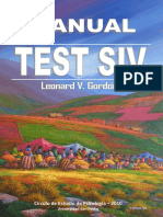 Manual Del Test Siv Circulo de Estudio d