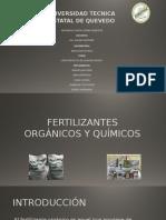 Fertilizantes químicos y organicos