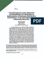 Transformation Leadership behaviors