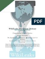 Wiki Leaks Document Release