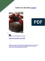 Recetas de Pasteles de Chocolate Caseros 1