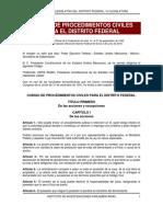 Codigo de Procedimeintos Civiles Del Df
