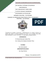 Propuesta de Un Análisis Operacional y Planteamiento de Un Método