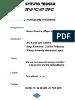 Manual De Mantenimiento Correctivo y Preventivo