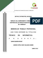 Memoria de Trabajo Profesional Guzman Rosssas Lenin 24 de Junio de 2016 (1)