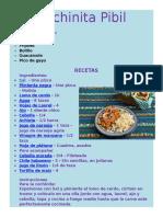 Varias recetas de Cochinita Pibil
