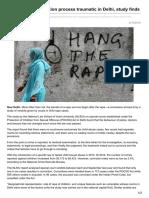 Child Rape Investigation Process Traumatic in Delhi Study Finds