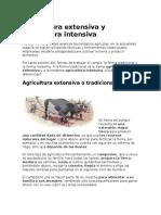 Agricultura Extensiva y Agricultura Intensiva