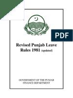 Revised Punjab Leave Rules 1981 Updated 0