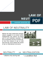 Law of Neutrality