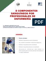 Uso de Componentes Sanguíneos Para Profesionales de Enfermeria
