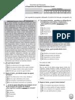 Prueba Diagnostica Espanol Undecimo (1)