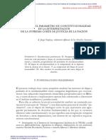 El Bloque y El Parametro de Constitucionalidad en Mexico