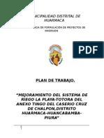 Plan W-Canal Cruz de Chalpón.