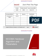 WCDMA Handover Algorithm and Parameters